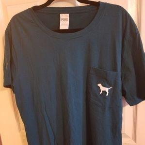 PINK by Victoria's secret teal t-shirt size L